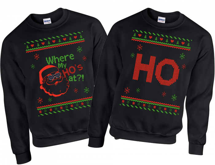 10 Of The Best Couples Ugly Christmas Sweaters - Where's My HO Ugly Sweater