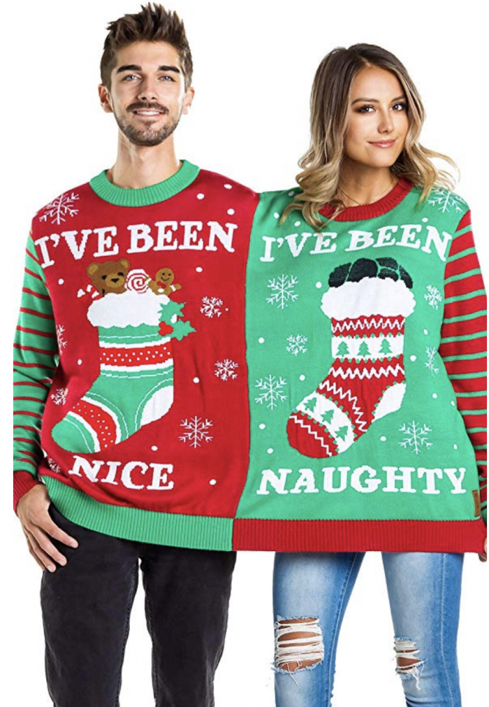 Two person ugly Christmas sweater - 10 Couples Ugly Christmas Sweater Ideas