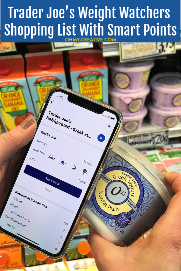 Use this Trader Joe's Weight Watchers Shopping List with Smart Point to make shopping easy while following Weight Watchers. OHMY-CREATIVE.COM #traderjoesweightwatchersshoppinglist #weightwatchersshoppinglist #weightwatcherstips #weightwatchers #weightwatchersshoppinglist