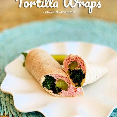 Weight Watchers low point tortilla sandwich wrap