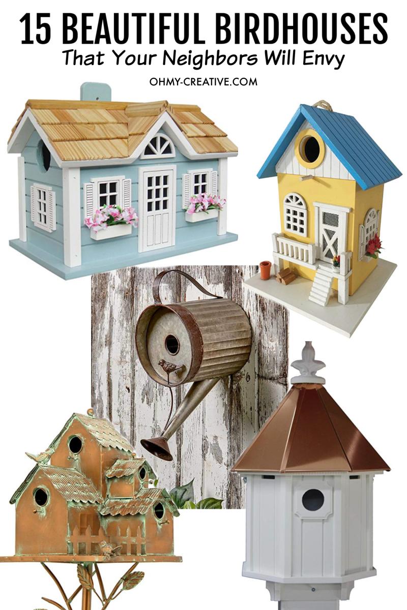 15 Beautiful Birdhouses your neighbors will envy