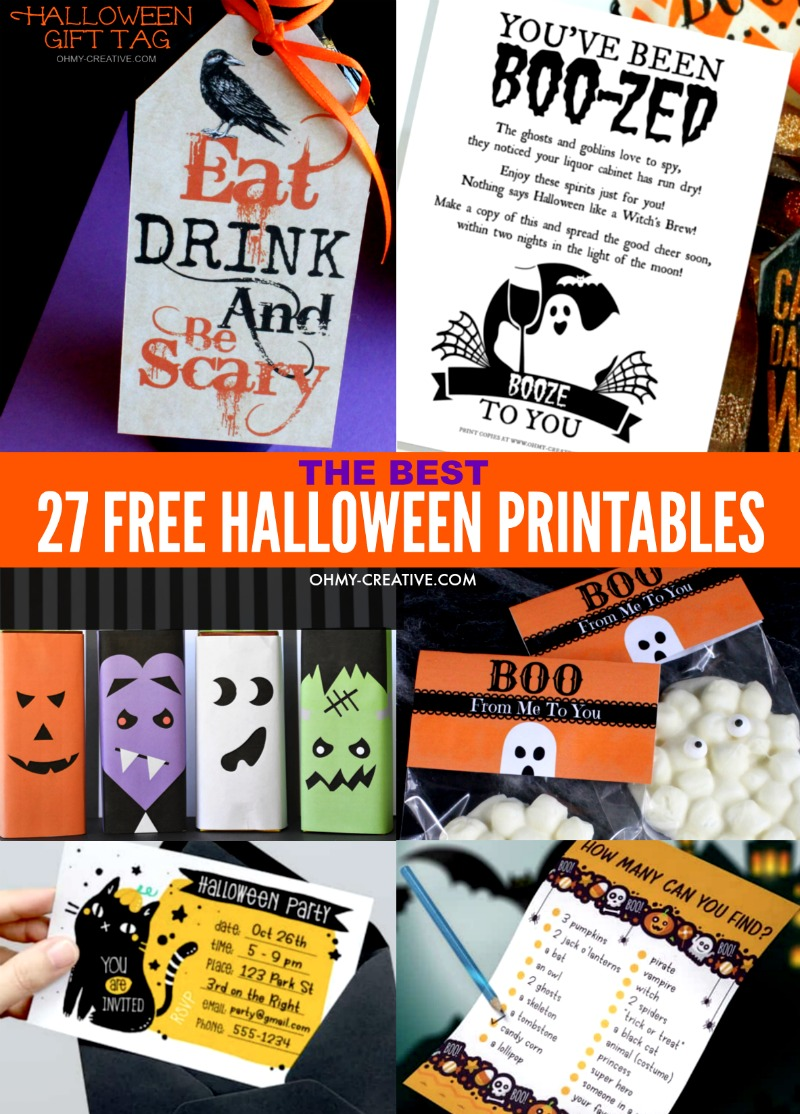 27 Of The Best Free Halloween Printables