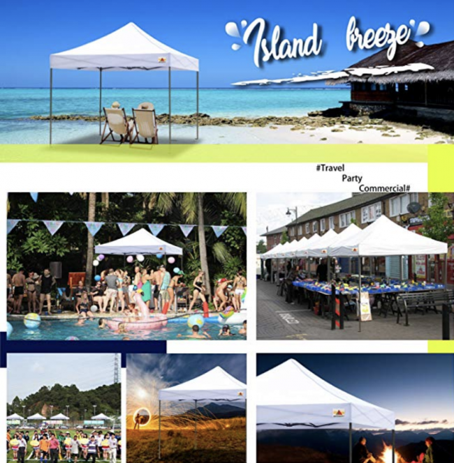 A pop-up tent canopy is essential for any backyard party. They are great rain or shine protecting the food tables or guests from too much sunlight or rain. Most fold up compactly for storage. Plus they are great to take to kids sporting events, the beach or craft shows.