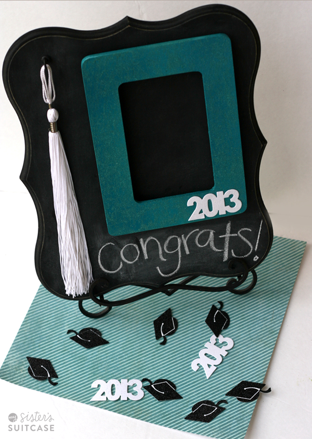 This is a beautiful way to display their tassel. Even after the party, they can hang this up in their room to commemorate their graduation.