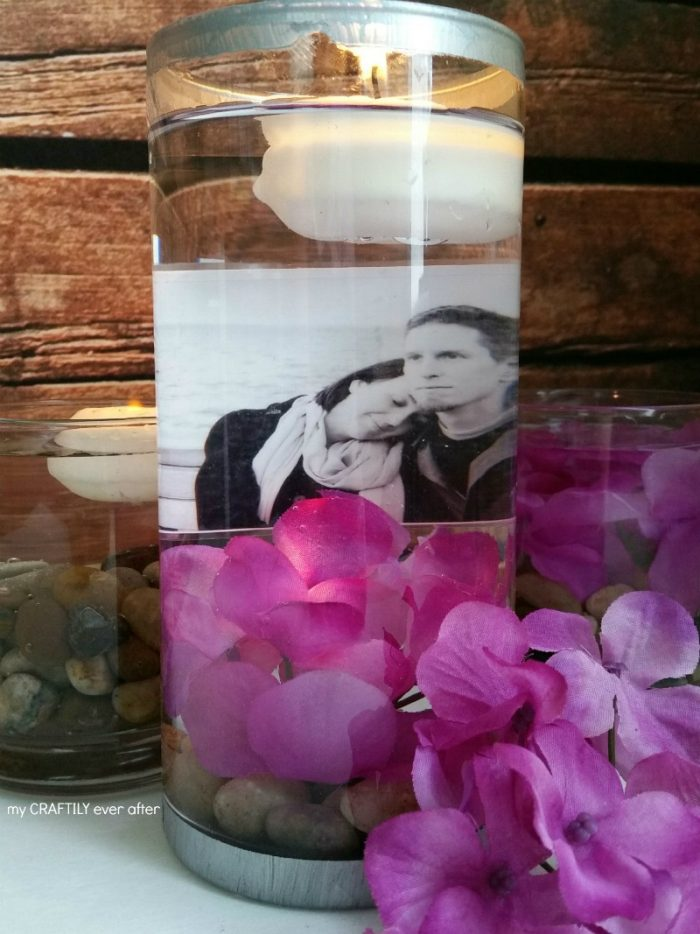 There are going to be pictures of your graduate all over the party area, so make the photo displays fun. Instead of just lots of frames, create a floating centerpiece.