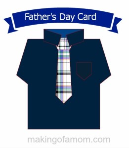 Dress Shirt with Tie card file