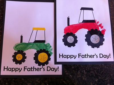 Tractor shapes made with footprints