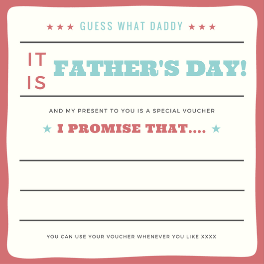 Printable voucher for fathers day