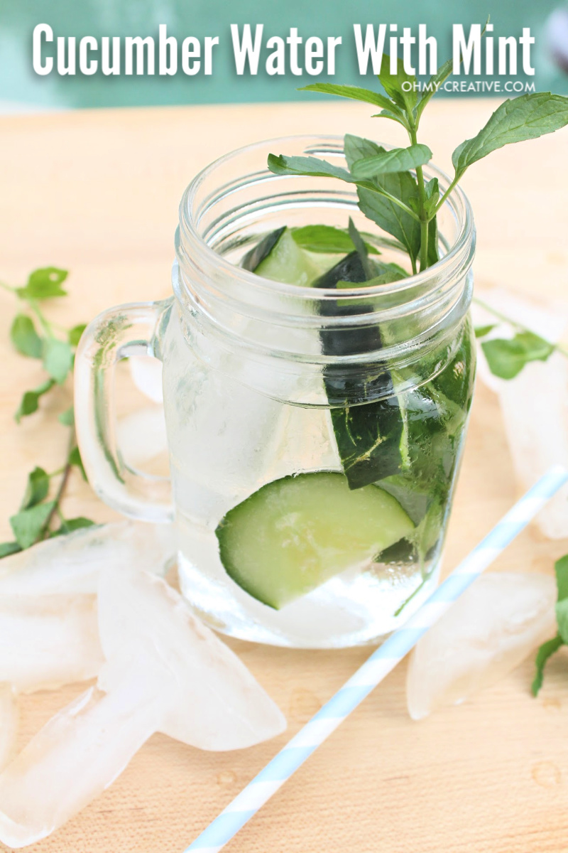 Cucumber Water With Mint