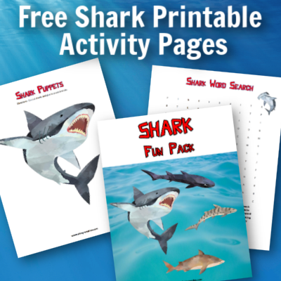 Free Shark Printable Activity Pages for Kids