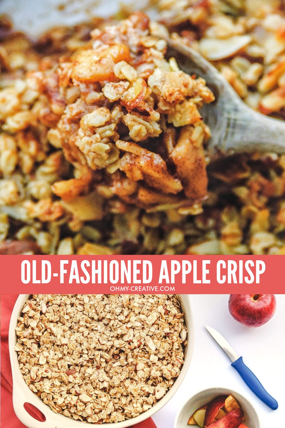 How to make old-fashion apple crisp recipe for fall.