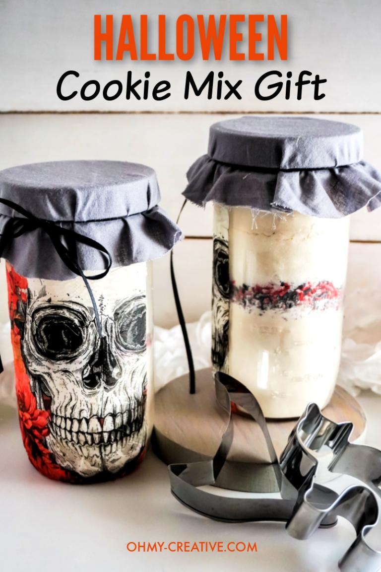 Skull Halloween Cookies In A Jar Gift