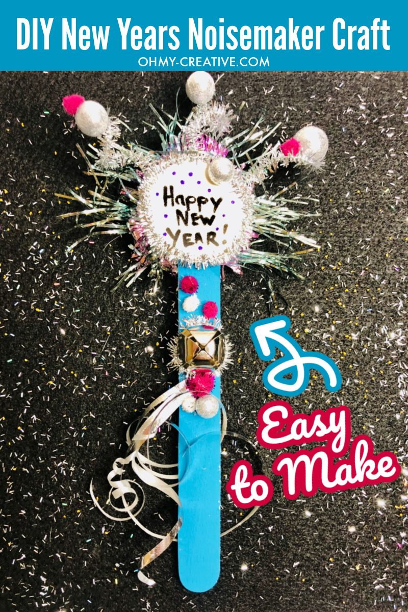 Noisemaker Craft For New Year's Eve