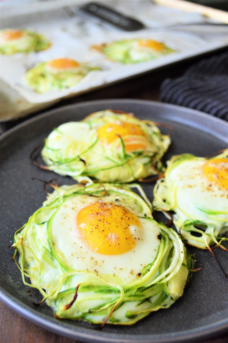 Zucchini Nests  |  Zoodle Eggs In A Nest Recipe