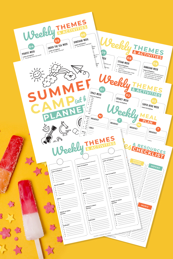 Activities For Summer Camp Planner