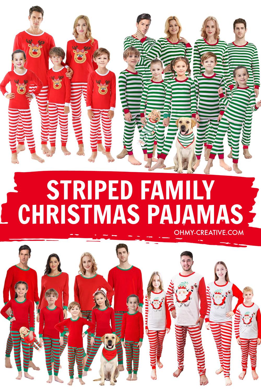 Striped Christmas Pajamas For The Family