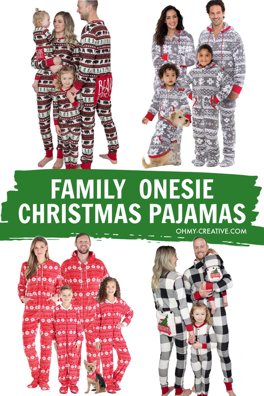 Cute Family Onesie Christmas Pajamas