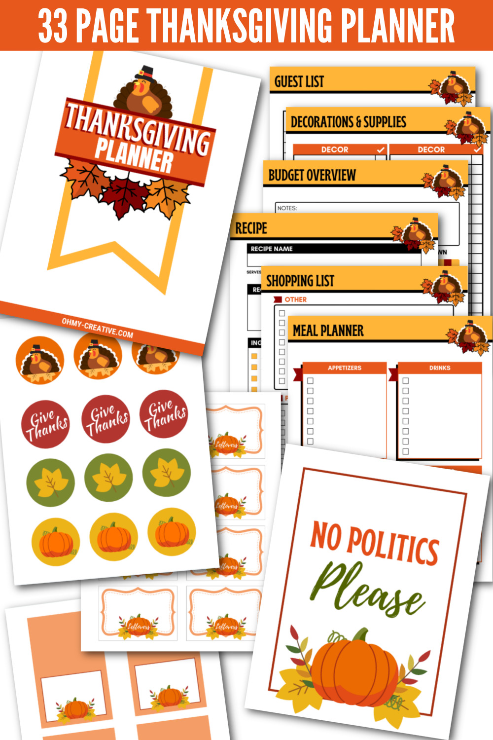 The Ultimate Thanksgiving Planner (That Will Save You Time)